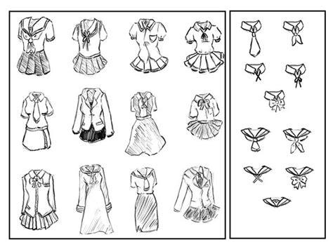 sketchbook lengkap anime school uniforms by sarcasticlittledevil on