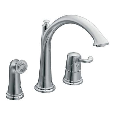 moen kitchen faucet home depot moen savvy one handle kitchen faucet in chrome cas791 the home depot