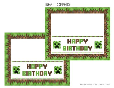 How To Make A Minecraft Birthday Card 9 Best Images Of Minecraft Birthday Printables Free