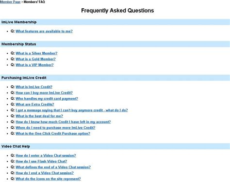 faq section review of imlive com at best webcam sites