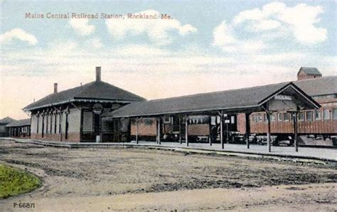 Home Depot Rockland Maine by Maine Central Railroad Station Rockland Maine 1900s