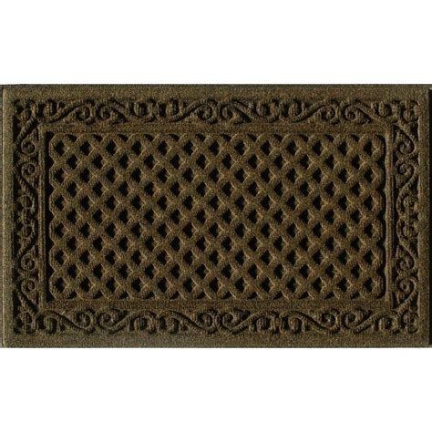 door mat rugs trafficmaster brown 18 in x 30 in door mat 60 883 1403 01800030 the home depot