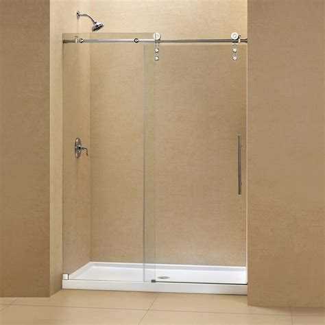 48 Sliding Shower Door Dreamline Enigma Z 36 In X 48 In X 78 75 In Frameless Sliding Shower Door In Polished