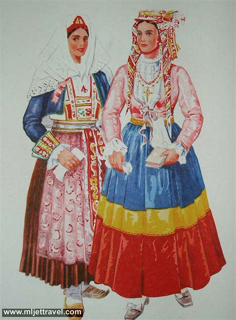 Traditional Costume traditional mljet s folk costume