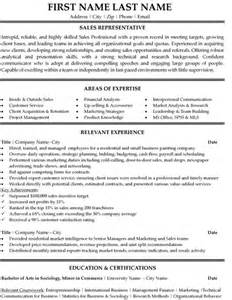 Company Representative Sle Resume by Top Sales Resume Templates Sles