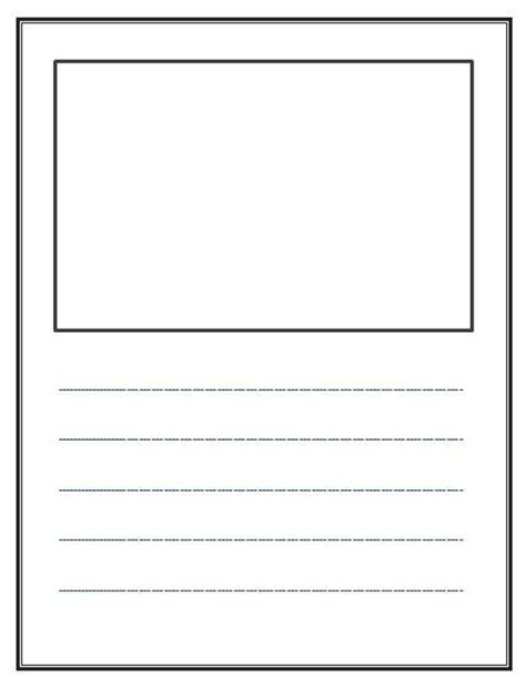 drawing paper template write and draw lined paper with space for story