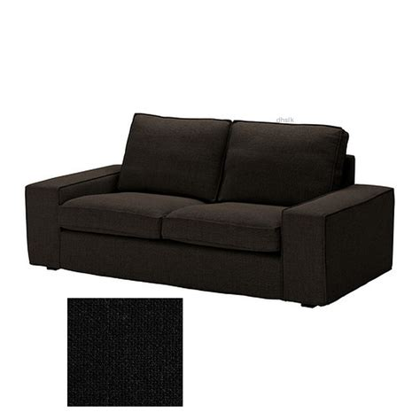 ikea kivik 2 seat loveseat sofa slipcover cover teno black