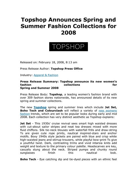 fashion press release template sle press release quotes quotesgram