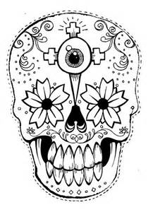 Day Of The Dead Mask Template by Best Photos Of Day Of The Dead Printable Masks Day Of