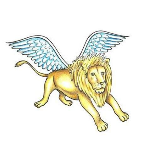lion with wings tattoo with wings designs