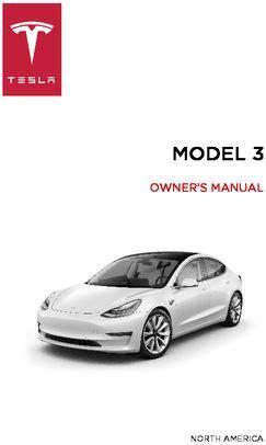 tesla model 3 manual 2018 tesla model 3 owner s manual pdf 165 pages