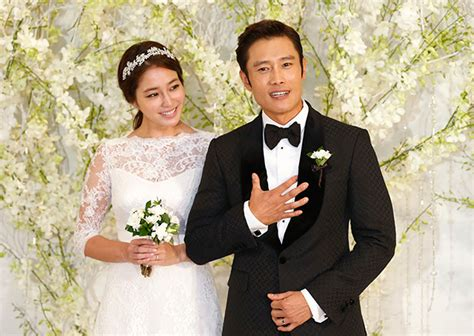 latest news and gossip about korean actors and actress korean stars lee byung hun lee min jung wed photos