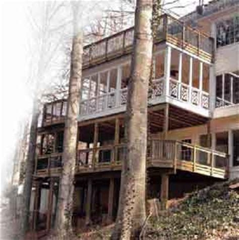loads from incline roof elevated decks professional deck builder framing