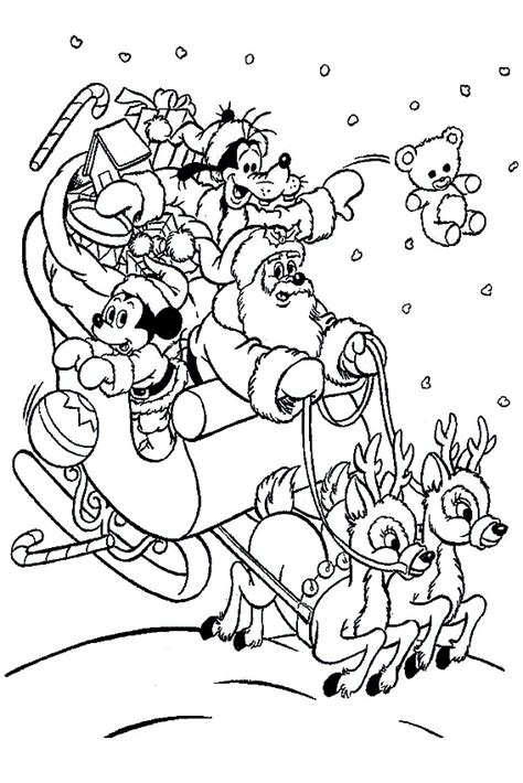 christmas mickey mouse coloring pages to print mickey mouse christmas coloring pages to download and