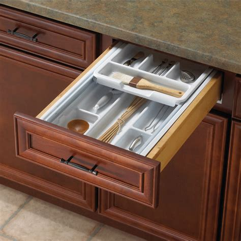 Kitchen Cabinet Drawer Inserts by Knape Vogt Tiered Kitchen Cutlery Drawer Insert