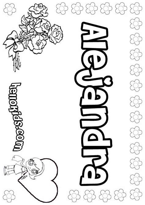alejandra coloring pages hellokids com