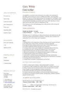 care assistant cv template job description cv example resume curriculum vitae job application