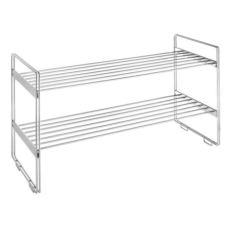 Ventilated Wire Closet Shelving Whitmor 6175 861 12 In X 30 In Ventilated Wire Stackable