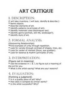 Artwork Analysis Essay Exle by 1000 Ideas About Critique On Rubric Criticism And Gcse Grades