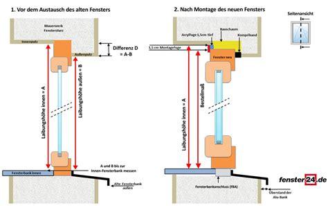 Fenster Montageanleitung Nach Ral by Fenster Messen Bei Einem Putzbau Mit Anschlag
