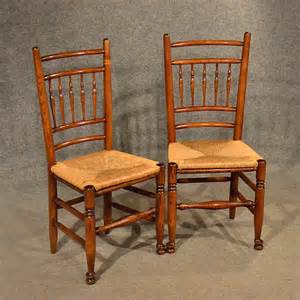 Oak Kitchen Chairs by Oak Chairs Pair Kitchen Dining Country Quality Antiques Atlas