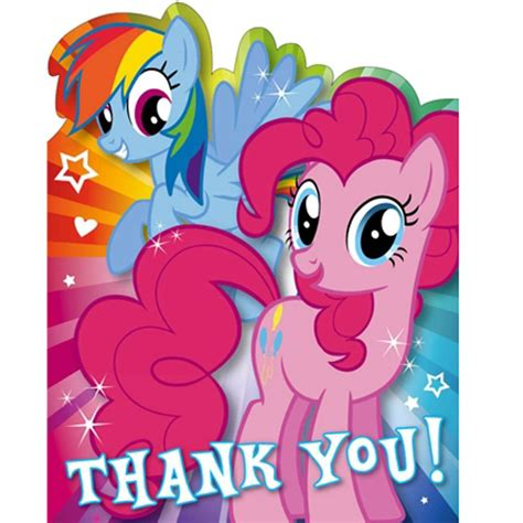 my little pony printable thank you cards my little pony birthday cards assorted ebay