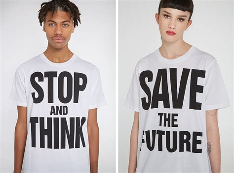 Katharine Hamnett Saves The Future With Cole by Katharine Hamnett X Ymc Save The Future Port Magazine