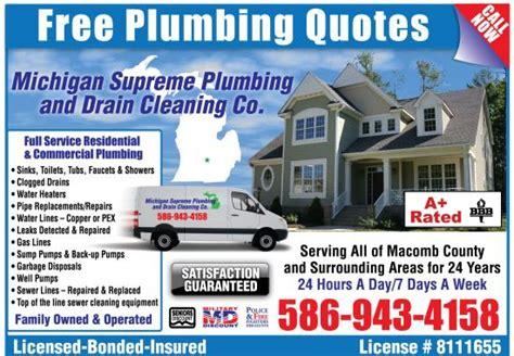 Michigan Plumbing by Find Warren Plumbers Plumber Warren Mi