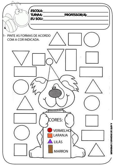 figuras geometricas atividades educação infantil atividade pronta formas geom 233 tricas a arte de ensinar