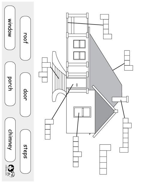 house printable exercises worksheet english house english for beginners