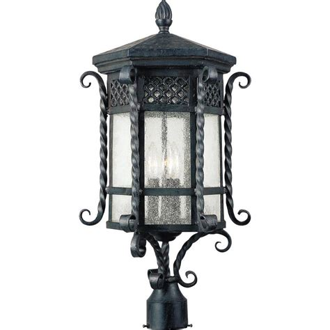 Maxim Lighting Scottsdale 3 Light Country Forge Outdoor Outdoor Pole Lights