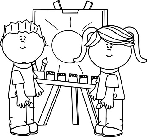 make coloring pages from photos kids making painting