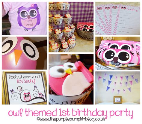 owl theme owl themed 1st birthday
