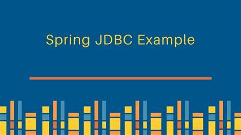 spring jdbc exle journaldev