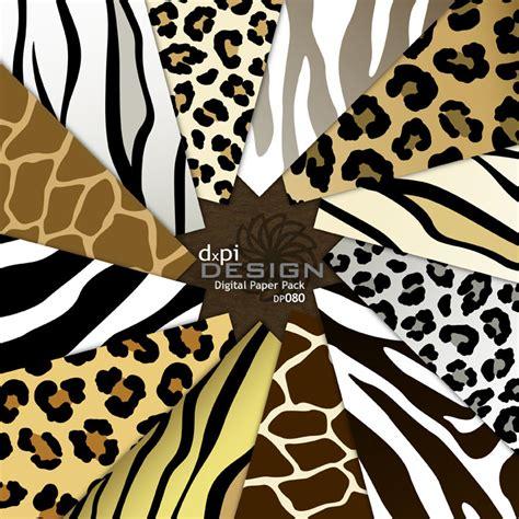 printable zebra print paper animal print digital paper zebra leopard tiger giraffe