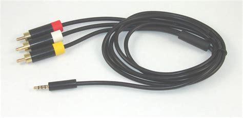 Kabel Av Xbox 360e new xbox 360 e composite rca av cable