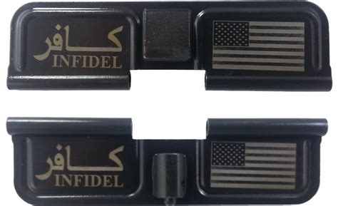 infidel usa sided infidel usa ar 15 laser engraved ejection port dust cover