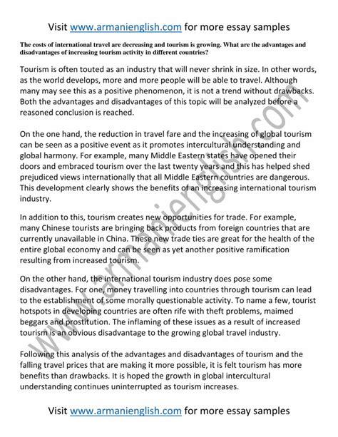 Tourism Essay by Travel Essay Botbuzz Co
