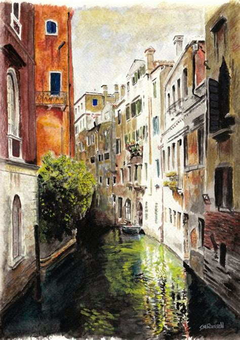 paint places venice reflections large a4 a3 or a2 limited edition art