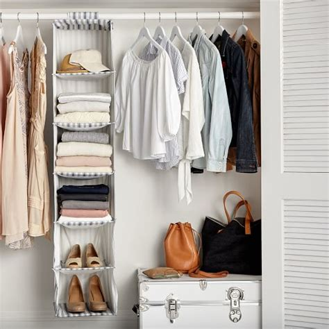 sweater closet organizer hanging closet sweater organizer blue ticking stripe pbteen