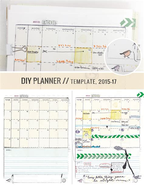 diy calendar template diy planner templates free free business template