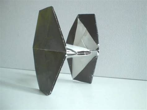 Origami Tie Fighter - how to make an easy origami wars tie fighter hd