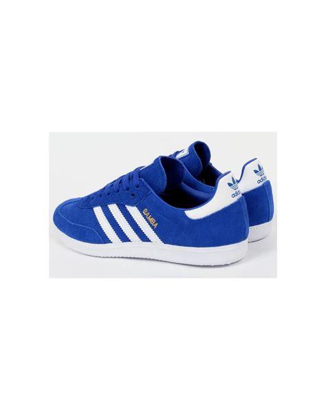 Adidas White Blue adidas samba trainers bold blue white originals adidas