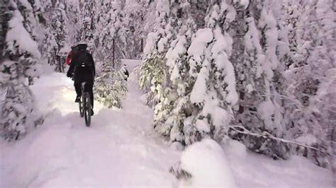 mtb winter jacket tere winter mtb trails linnainmaa