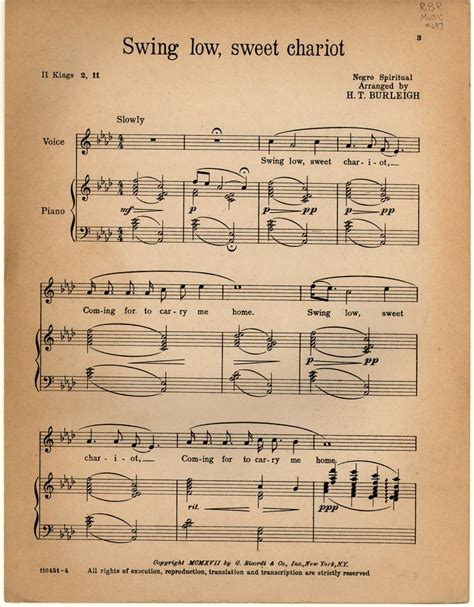 history of swing low sweet chariot swing low sweet chariot historic american sheet music