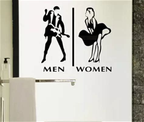 Store company toilet man and woman wc sign sticker icon
