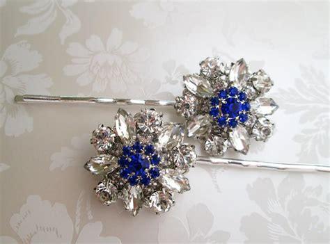 Royal Blue Hair Accessories For Weddings by Wedding Hair Pins Blue Bobby Pins Something Blue Hair