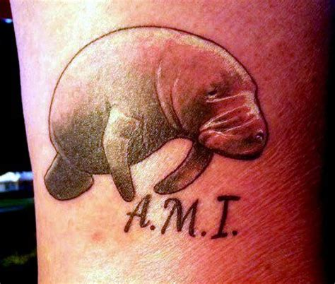 manatee tattoo manatee personal picture picture