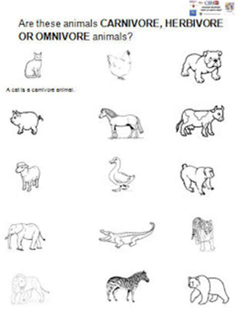 Carnivore Omnivore Herbivore Worksheet