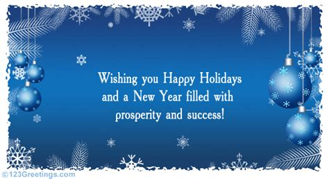 formal holiday   business  ecards